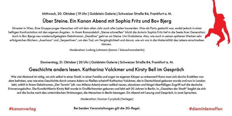 Kanon in Frankfurt #fbm21